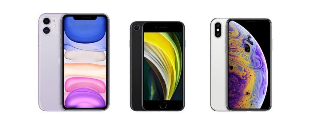 iphoneの種類